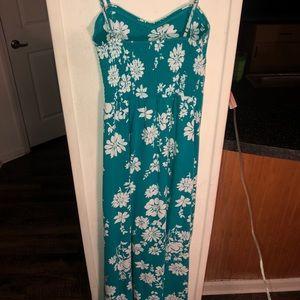Aeropostale Dresses - Floral Blue/ Green Maxi